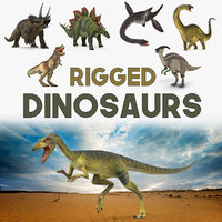 rigged dinosaurs 2 3D