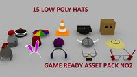 Low poly hats2