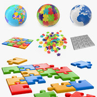 3D puzzles globe pieces