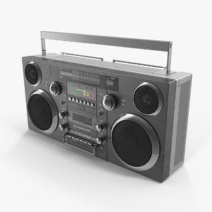 3D portable cassette boombox