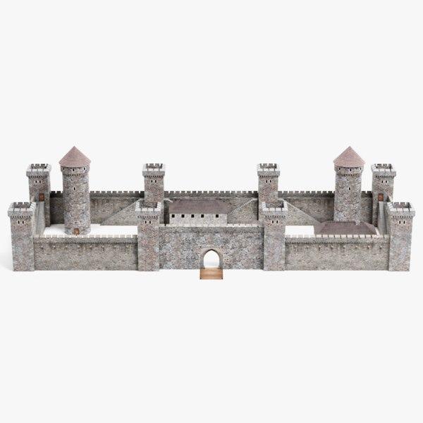 3D model medieval castle 1