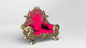 throne chair 3D