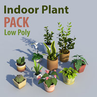 Indoor Plant Pack Low Poly