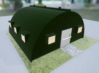 3D model military barrack