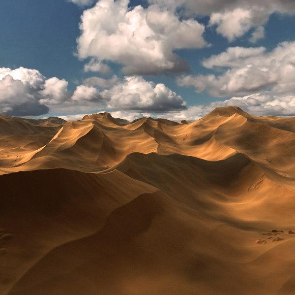 3D realistic sand dunes