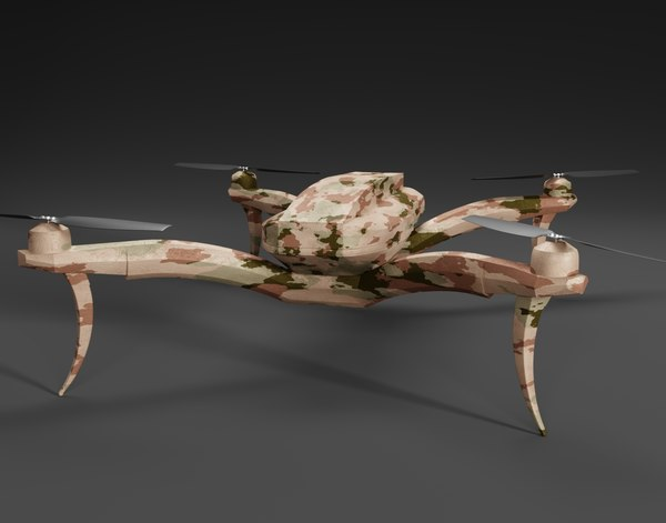 3D quadrocopter drone camouflage
