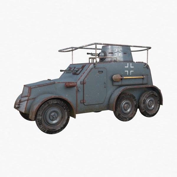 3D model oa vz 30 armoured car
