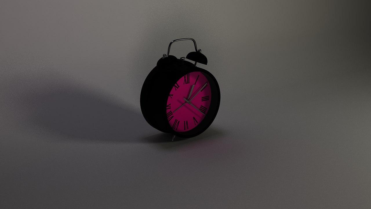 3D clock black