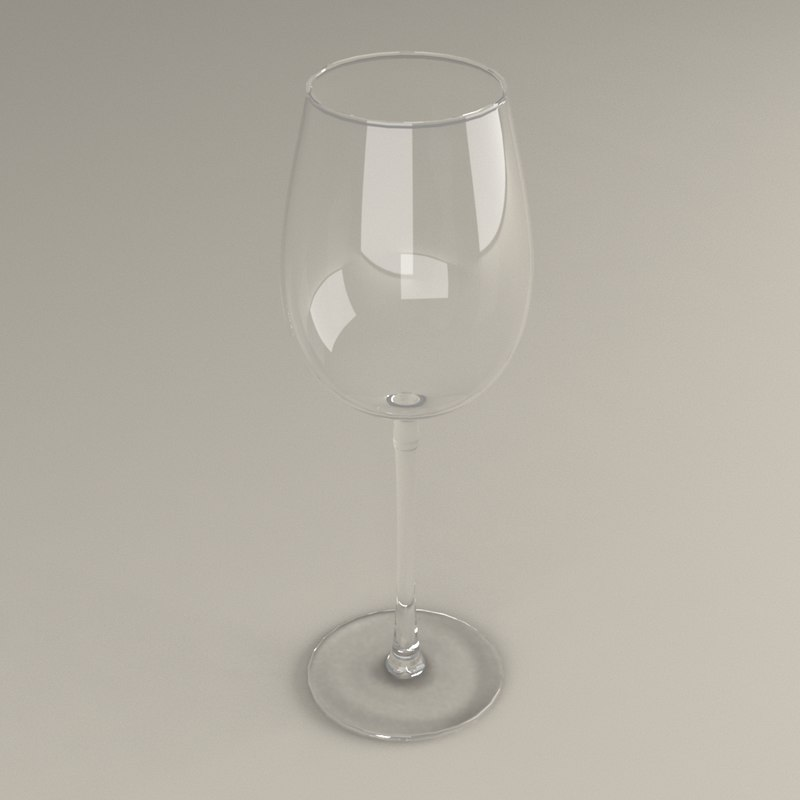 3D wineglass glass model