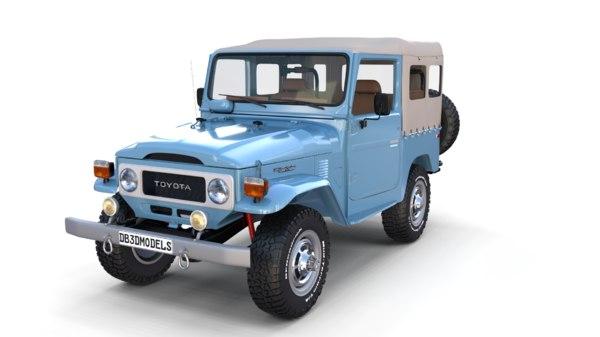 toyota land cruiser interior 3D model