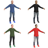 pack casual man 3D