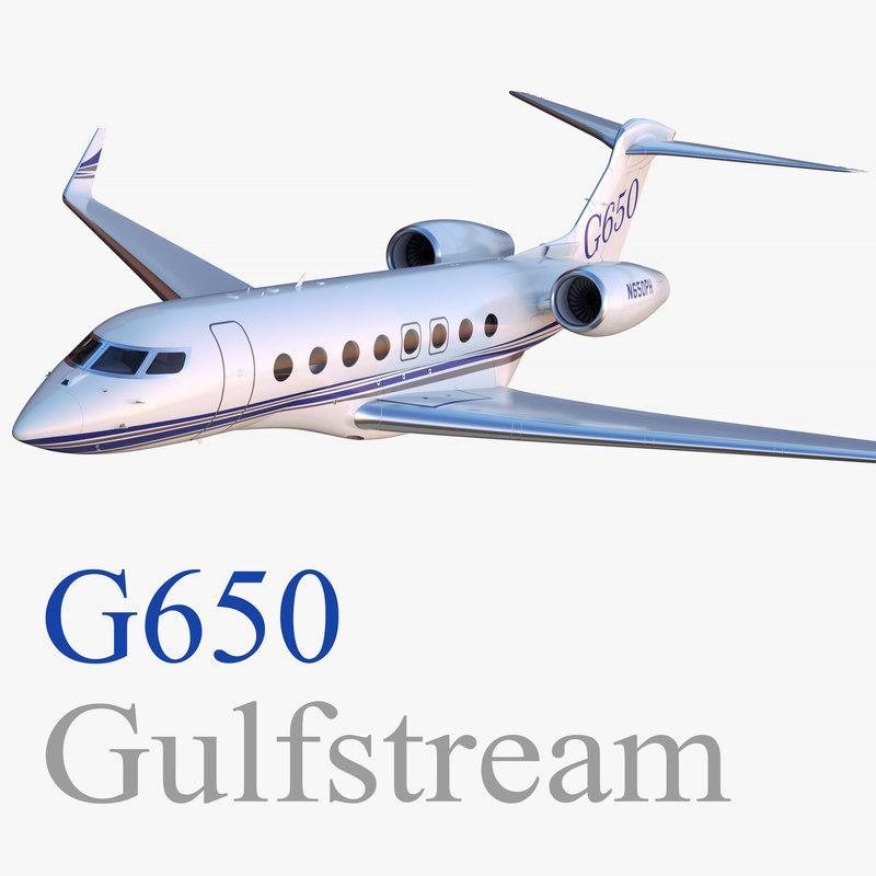 gulfstream g650 business jet 3D model