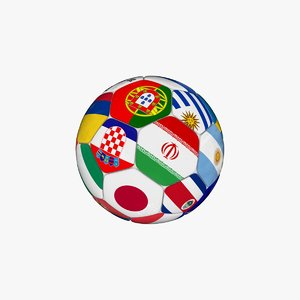 3D soccer ball 2018 model