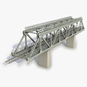 3D modular railway bridge
