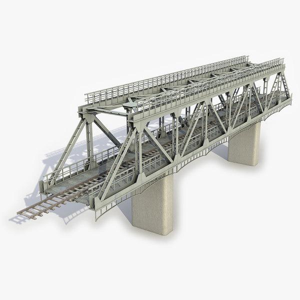 3D modular railway bridge