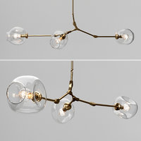 3D model branching bubble 3 lamps