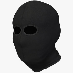 balaclava 2 holes 3D model