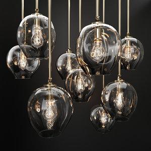 branching bubble 1 lamp 3D model