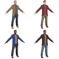 3D model pack casual man