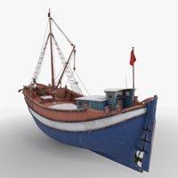Turkish Vintage Cargo Boat