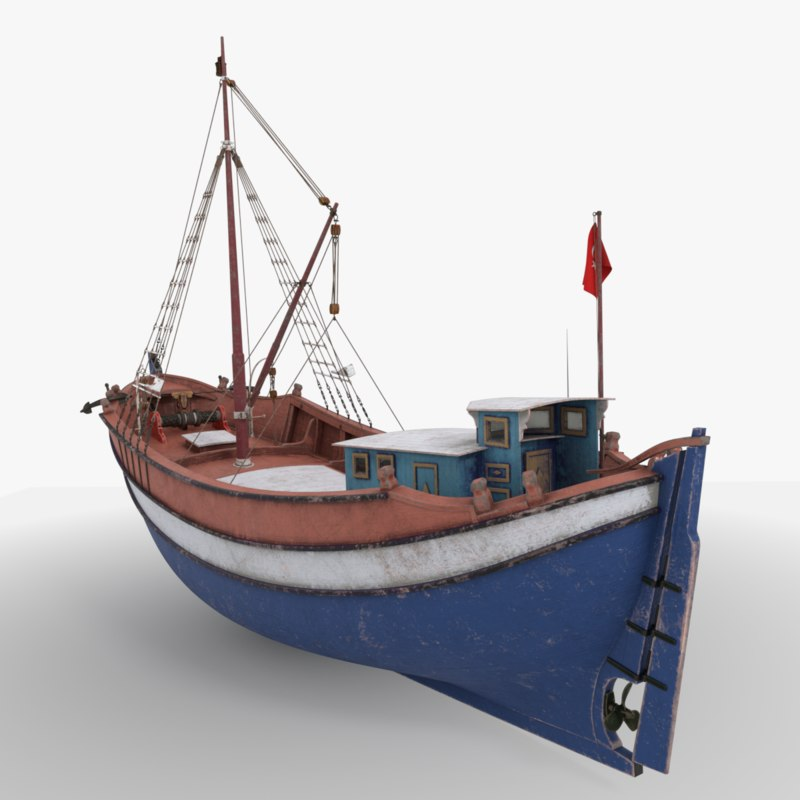 boat turkish 3D model