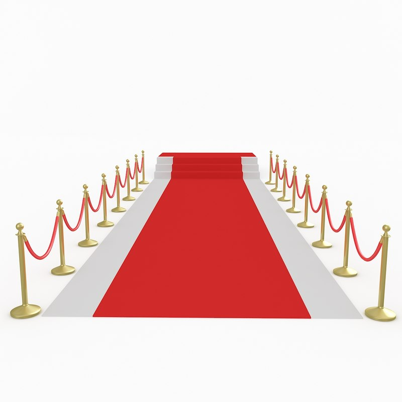 3D red carpet scene