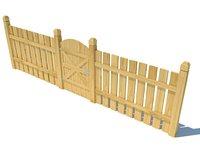wood fence 3D model