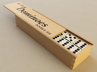 3D dominoes pieces box model