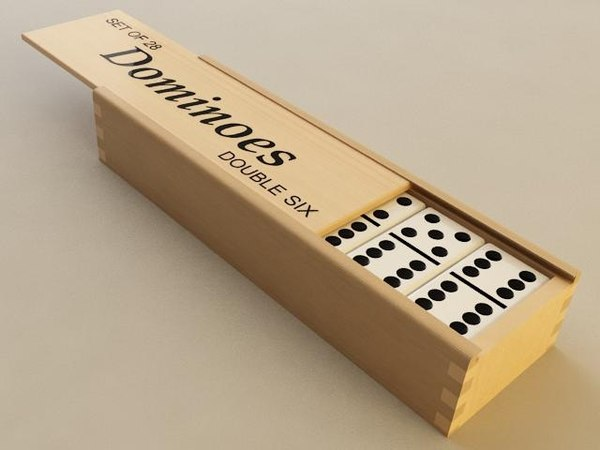 3D dominoes pieces box model