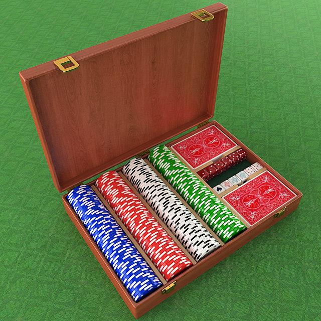 3D model poker chips