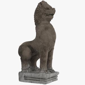 3D bayon temple lion model