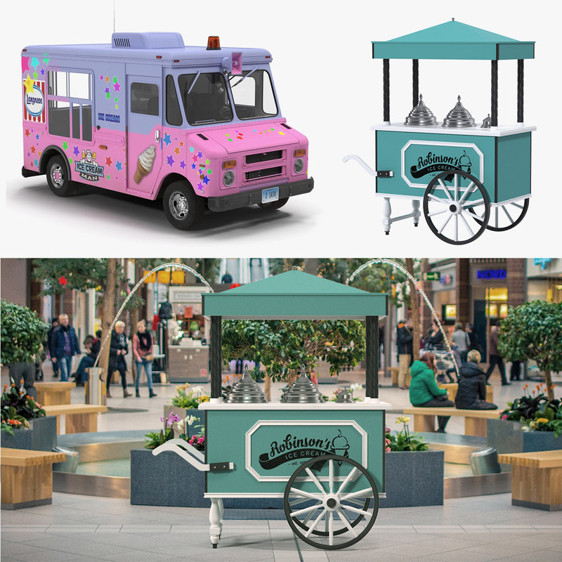 3D model ice cream vending machines