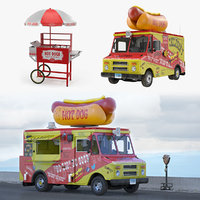 Hot Dog Vending Machines and Supplies 3D Models Collection
