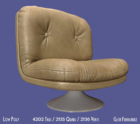 3D 70 furniture chair vintage model