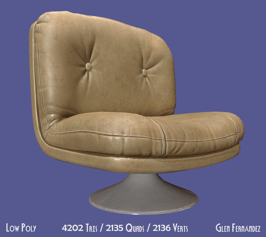 3D 70 furniture chair vintage model