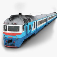 3D d1 diesel passenger train model