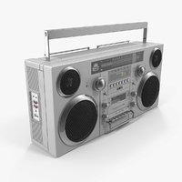 3D model gpo retro portable boombox