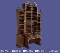old antique victorian bookcase model