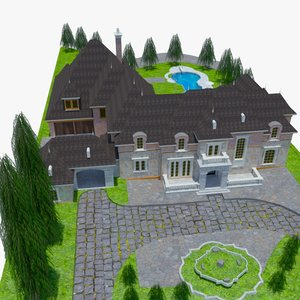 victorian mansion lxi 3D model