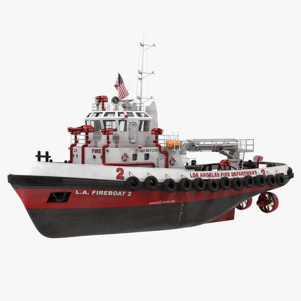 3D boat la department model