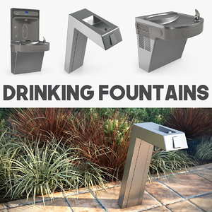 drinking fountains 3D model