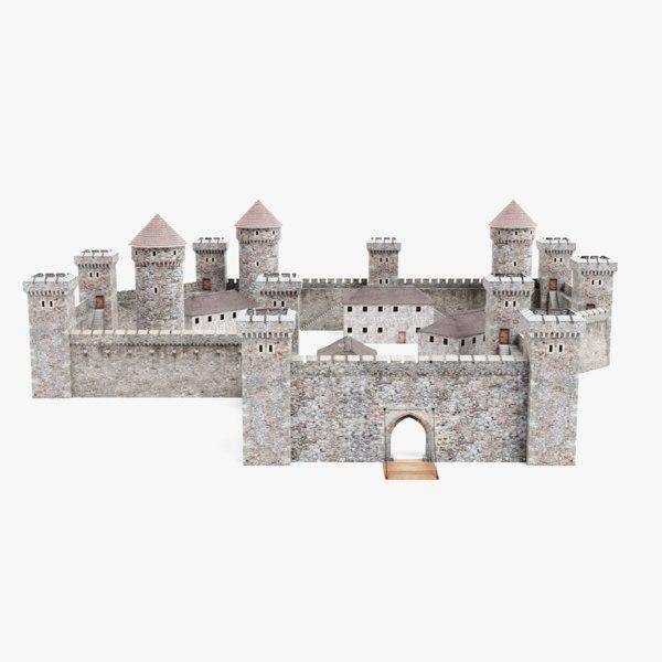 medieval castle 3D