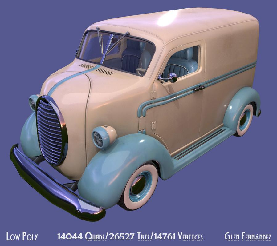 3D vintage custom coe delivery van