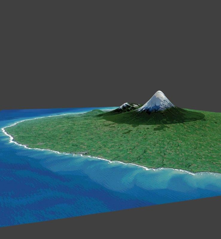 mount taranaki 3D model