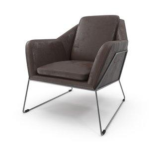 3D fauteuil antonio eleonora armchair model