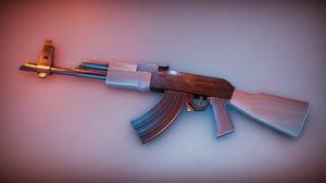 3D model stylized ak47 rifle