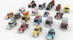 cartoon cars pack pro model