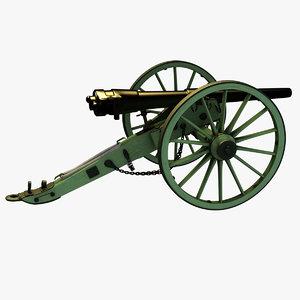 12-pounder whitworth breechloading rifle 3D model