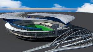 soccer stadium field 3D