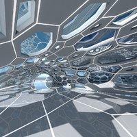Futuristic Architectural Dome Interior 2 3D